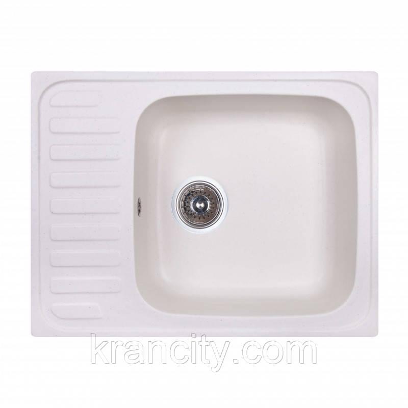 Кухонная гранитная мойка Fosto SGA-203, размер 64x49 , цвет метель
