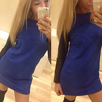 Стильное мини платье синий цвет