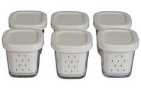 Набор стаканчиков, баночек для йогуртницы Tefal YG 6568, YG 6528, YG 654 XF100032, XF100101