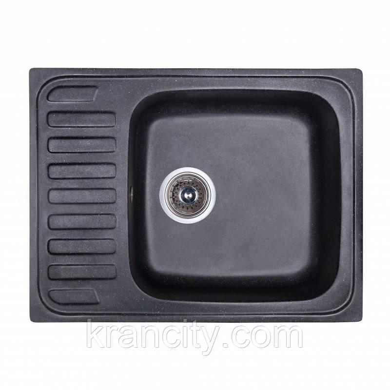 Кухонная мойка Fosto SGA-420, размер 64x49 , цвет черный
