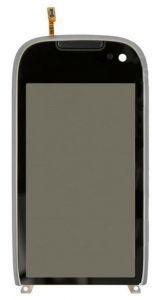 Тачскрин сенсор Nokia 701 черный в рамке
