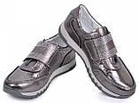 Кроссовки  подростковые для девочки из натуральной кожи от производителя модель МАК1283, фото 3