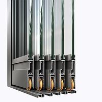 Алюминиевая раздвижная система (без терморазрыва) PS-50