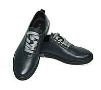 """Синие женские кожаные туфли на шнуровке ТМ """"ARRA"""", фото 1"""