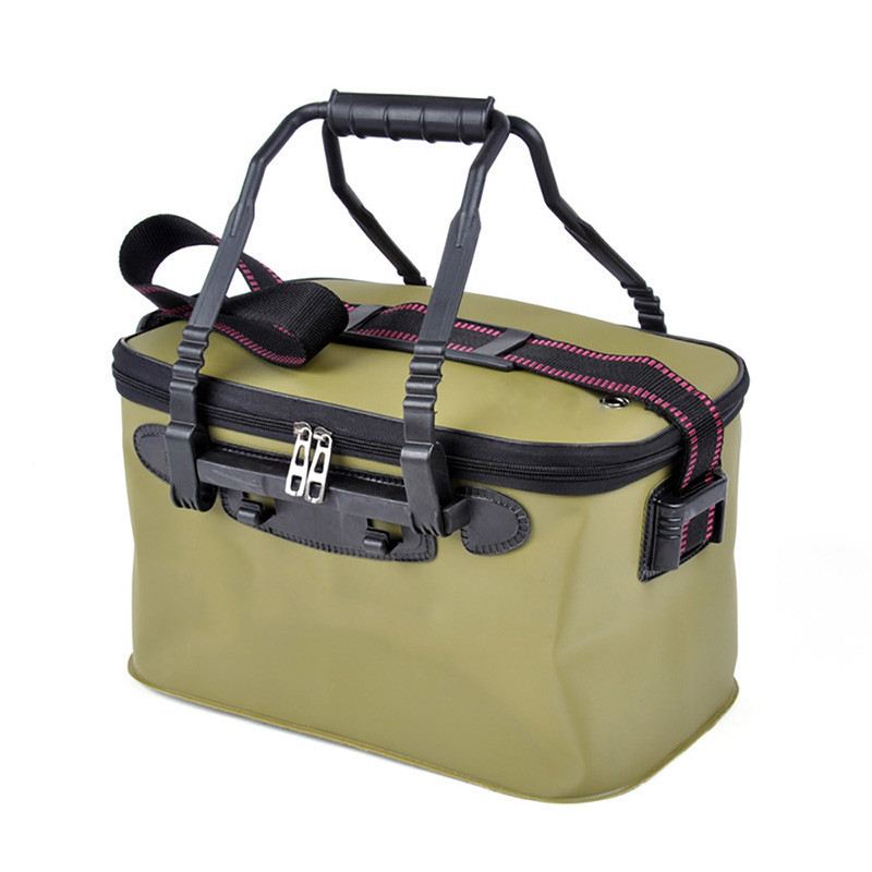 Сумка ведро для рыбалки водонепроницаемая с карманом 40х25х25см SF23834