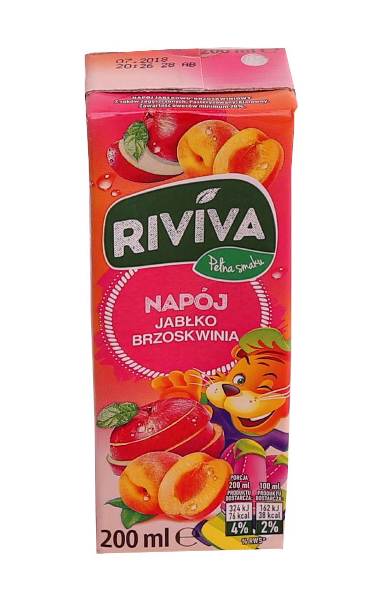 Сок Riviva яблоко-персик  200 мл. Польша