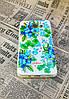 Чехол накладка Flowers на Samsung J7(2016), J710, Blue, фото 2