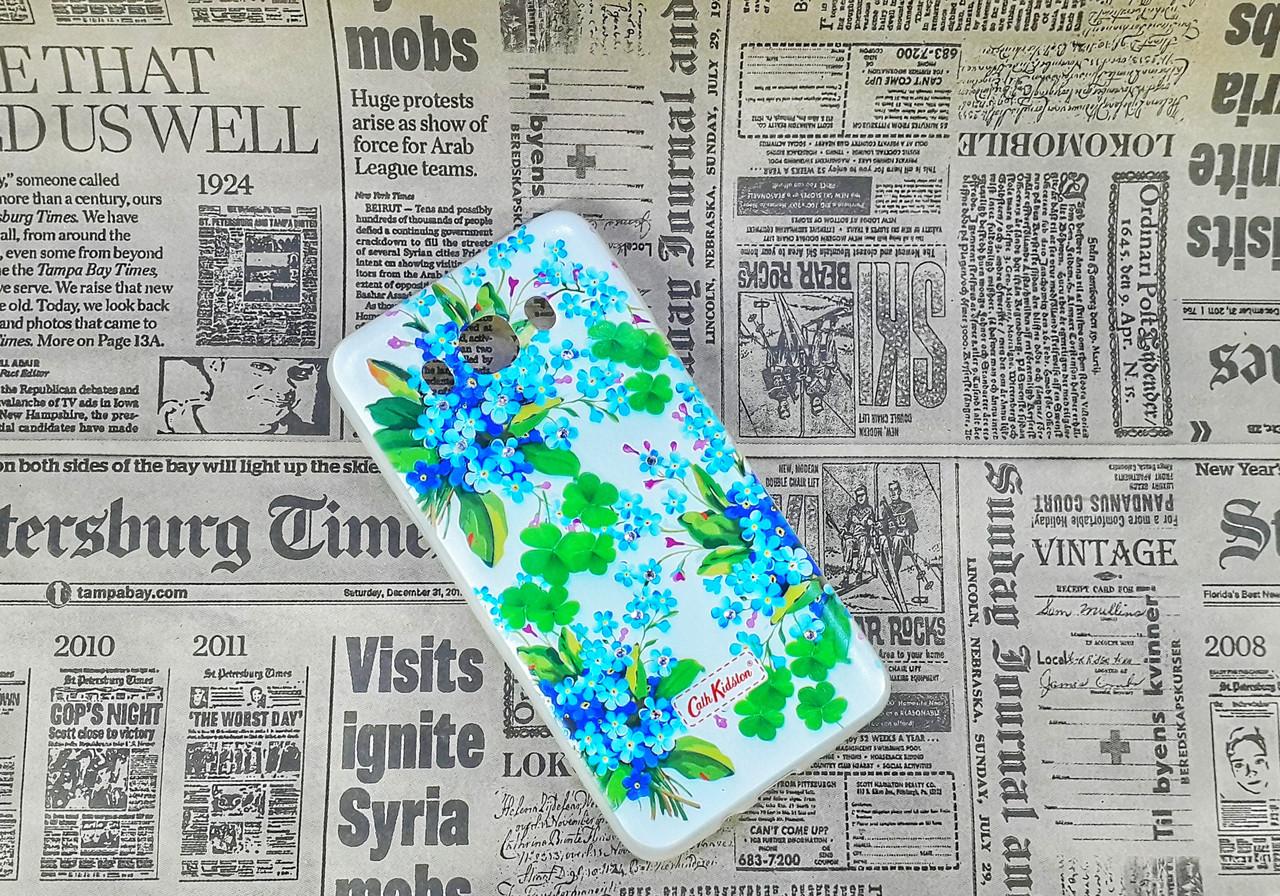 Чехол накладка Flowers на Samsung J7(2016), J710, Blue