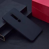 Чехол для Nokia 6.1 Plus / Nokia X6 / TA-1116 силикон Soft Touch бампер черный