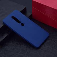 Чехол для Nokia 6.1 Plus / Nokia X6 / TA-1116 силикон Soft Touch бампер темно-синий