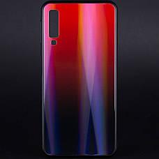 Чохол-накладка Gradient Aurora для Samsung Galaxy A7 (2018) Glass Червоний, фото 2