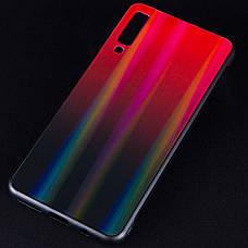 Чохол-накладка Gradient Aurora для Samsung Galaxy A7 (2018) Glass Червоний, фото 3