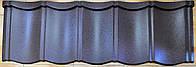 Металлочерепица модульная Лига Нова Strimex RAL 8019 мат, фото 1