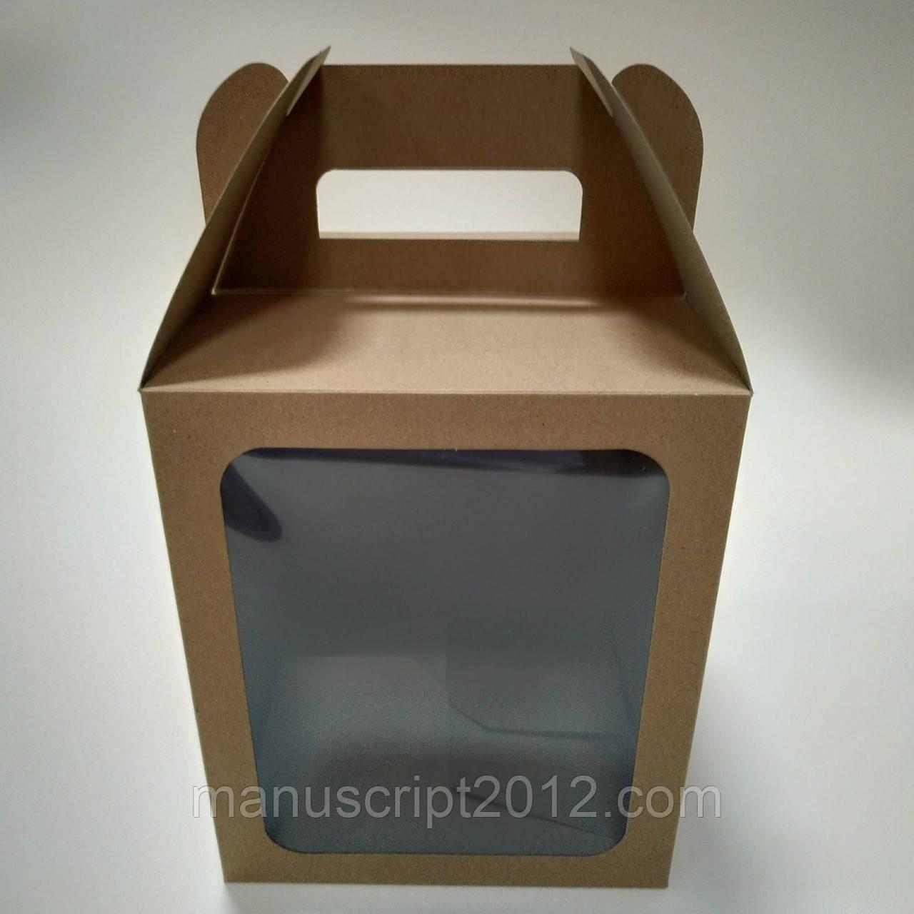 Коробка для кулича, подарков, пряничных домов 165х165х200 мм.