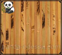 "Бамбуковые обои ""Черепаха"" комбинированная maxi, 1,5 м, ширина планки 17+8/8 мм / Бамбукові шпалери"