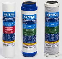 Комплект картриджей для питьевых систем защита от хлора Crystal