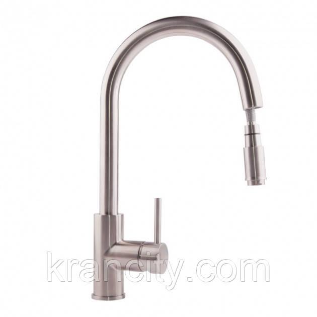 Смеситель для кухни с выдвижным изливом ULA (BW6001) 011 кухни U с выдвижным аэратором (нерж.)