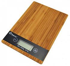 Дерев'яні кухонні ваги Domotec MS-A компактні ваги для кухні електронні ваги сенсорна панель