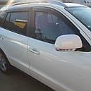 Дефлекторы окон (ветровики)  Hyundai Santa Fe 2006-2012 4шт (Hic), фото 5