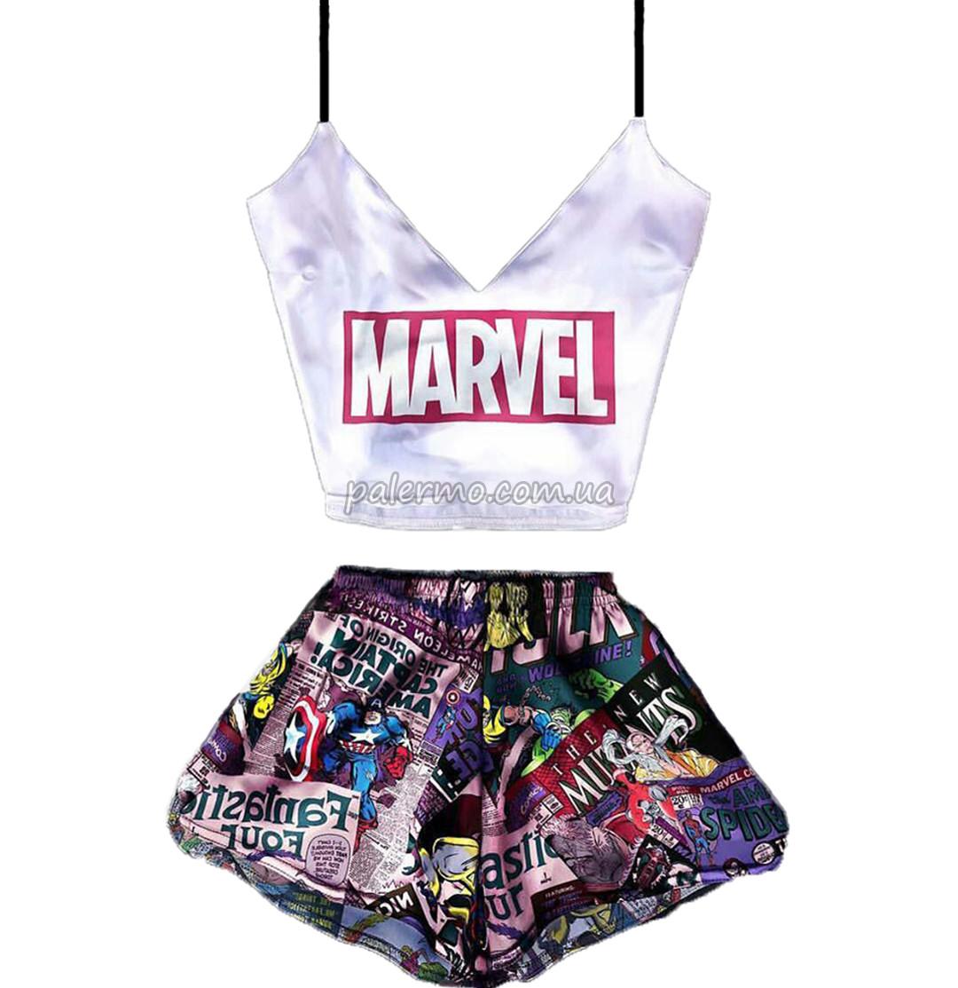 Пижама женская Marvel 🍿 шелковая