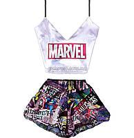 Пижама женская Marvel 🍿 шелковая M-L