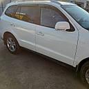 Дефлекторы окон (ветровики)  Hyundai Santa Fe 2006-2012 4шт (Hic), фото 3