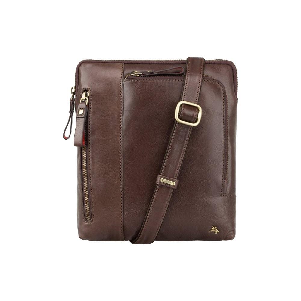 Кожаная мужская сумка Visconti ML20 Brown (Великобритания)