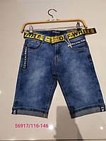 Шорты джинсовые на мальчика оптом, Seagull, 116-146 рр