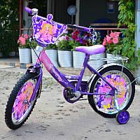 """Детский велосипед ПРИНЦЕССА с корзинкой 16"""" , фото 1"""