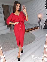 Модное платье миди с пуговицами, фото 1
