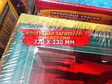 """Розфарбування по номерах велика """"Папуги"""" (х 32,0 23,0 див.), фото 4"""