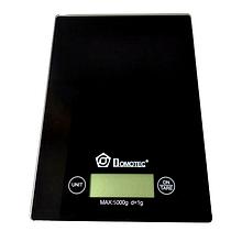 Чорні сенсорні кухонні ваги Domotec MS-912 до 5 кг ваги електронні для домашнього використання