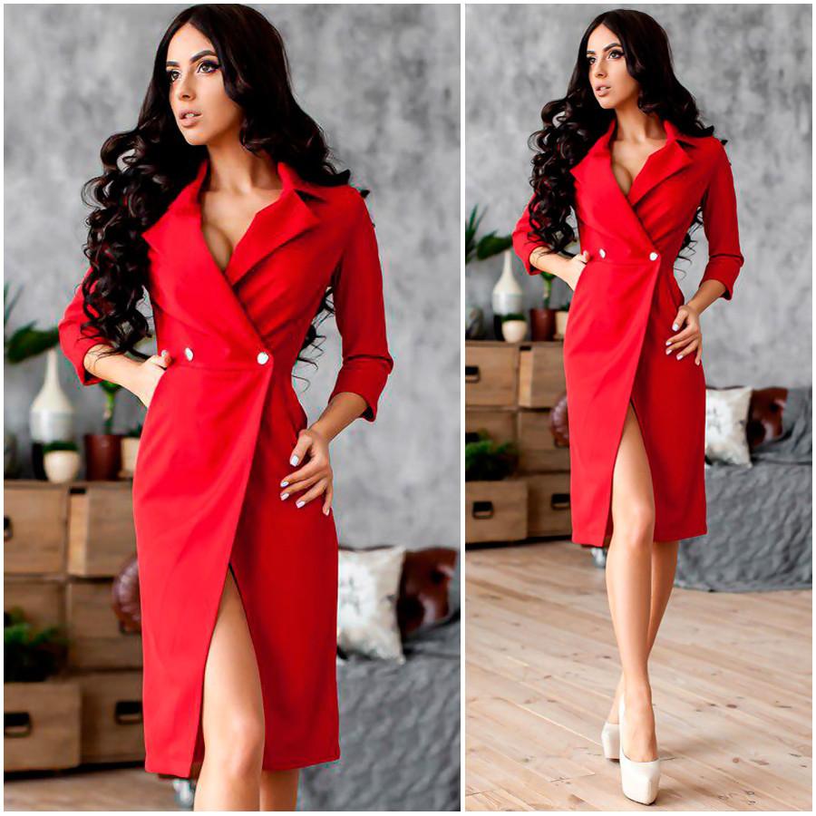 Красное платье-пиджак Gloria (Код MF-415)
