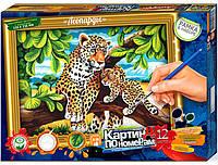 """Раскраска по номерам большая """"Леопарды"""" (32,0 х 23,0 см.), фото 1"""