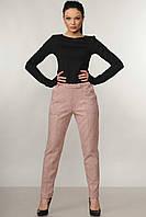 Стильные зауженные замшевые брюки Roy (42–52р) в расцветках, фото 1