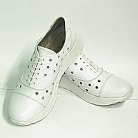 """Белые женские кожаные туфли на спортивной подошве ТМ """"ARRA"""", фото 1"""