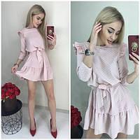 Женское платье в горошек , софт, фото 1