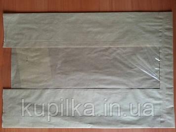 Бумажный пакет с прозрачной вставкой 11.62
