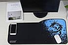 """Игровая поверхность """"Дракон синий"""". Коврик для мыши большой 72*33 см, фото 3"""