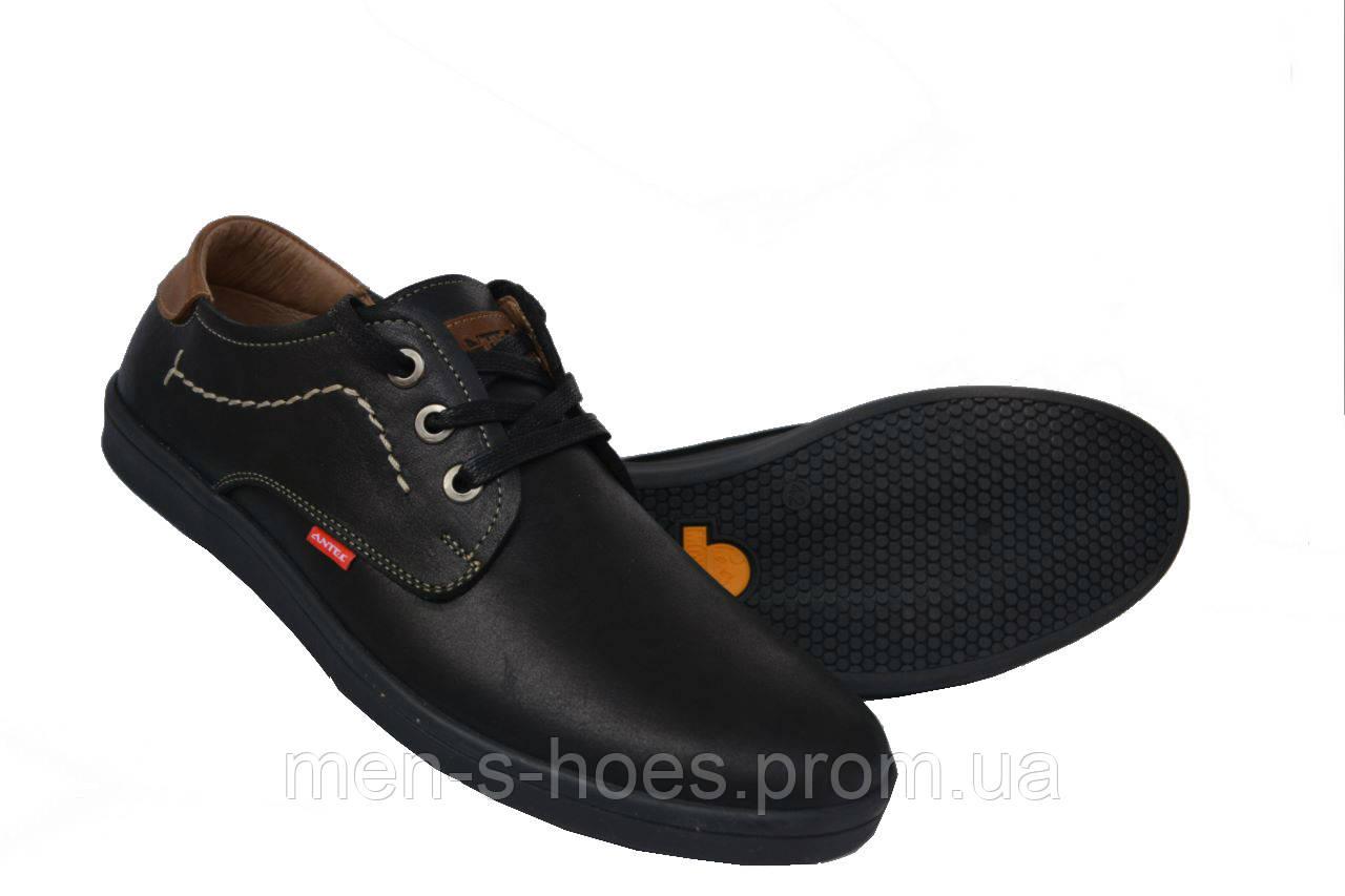Кожаные туфли Antec Black