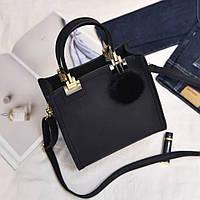 Женская стильная сумка с брелком (мод. 2413), фото 1