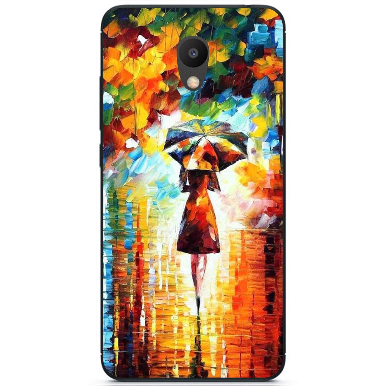 Силиконовый бампер чехол для Meizu M6s с рисунком Под зонтом