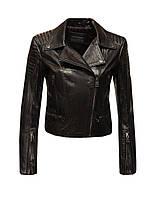 Куртка косуха кожаная Leonardo короткая черная