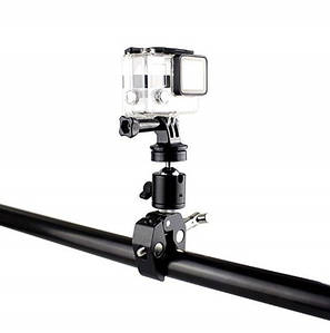 Металлическое крепление на руль или трубу для экшн камер (GoPro,Xiaomi,SJCam) с диаметром трубы до  5,5 см.