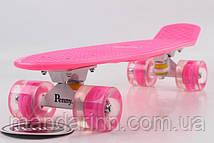 Скейт Скейтборд ORIGINAL 22 PENNY Малиновый, Колеса малиновые