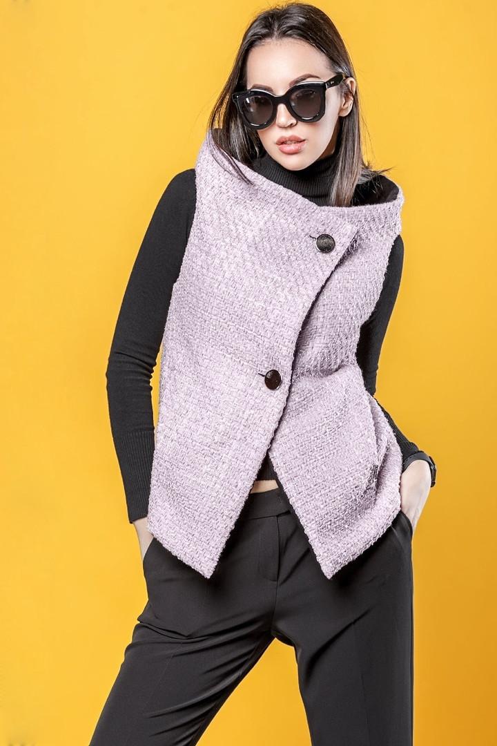 Двусторонний женский жилет из пальтовой ткани