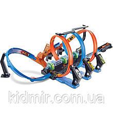 Хот Вилс Трек Скоростная гонка Виражи, Corkscrew Crash Track Hot Wheels FTB65