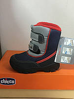 Ботинки зимние для мальчика CHICCO синие с красным и серым