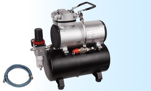 Компрессор для аэрографа безмасляный с ресивером, редуктором и фильтром. FENGDA AS-186