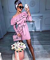 Женское платье модное с воланом, фото 1